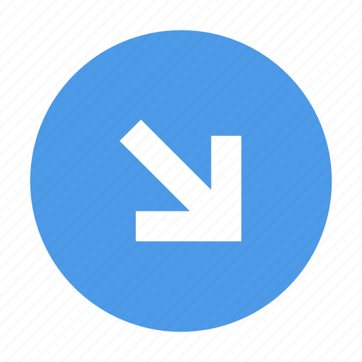 Arrow, down right, round icon - Download on Iconfinder