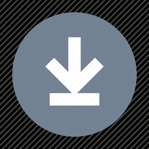 Download, round icon - Download on Iconfinder on Iconfinder