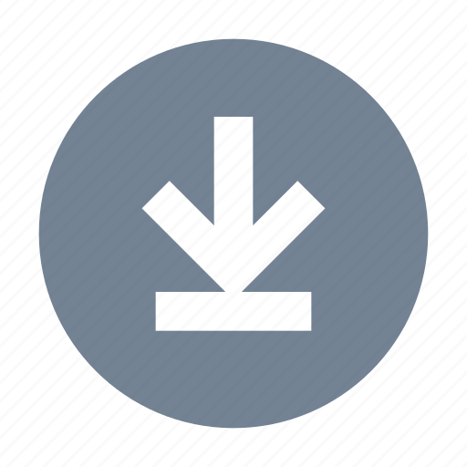 download, round icon
