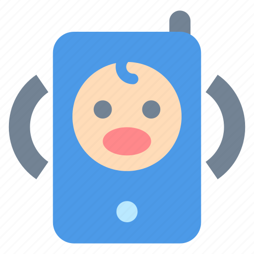 baby, cry, monitor icon