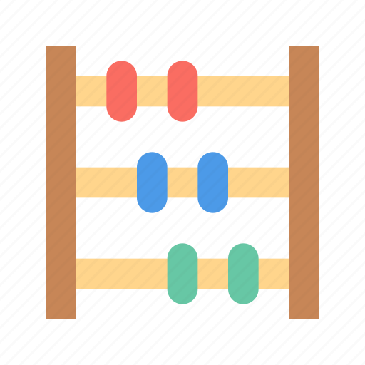 abacus, counter, toy icon