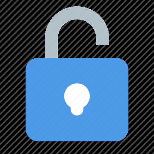 padlock, unlock icon