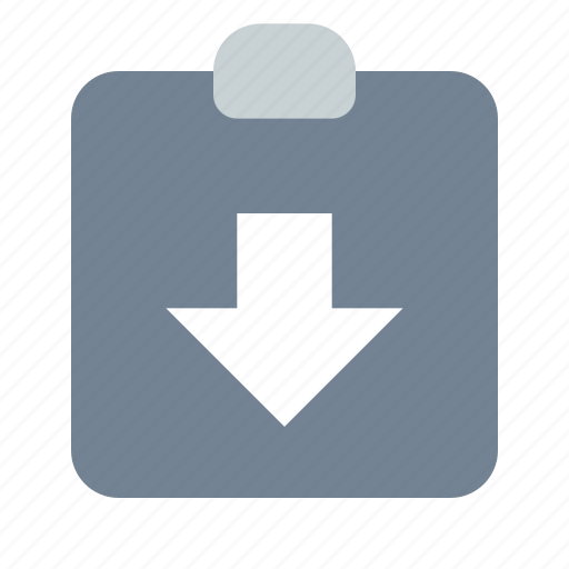 Clipboard, arrow, down icon - Download on Iconfinder