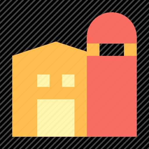 barn, farm, silo, storage icon