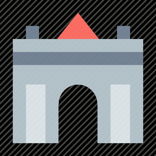 arc, entry, gate, triumph icon