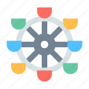 ferris wheel, park, recreation icon