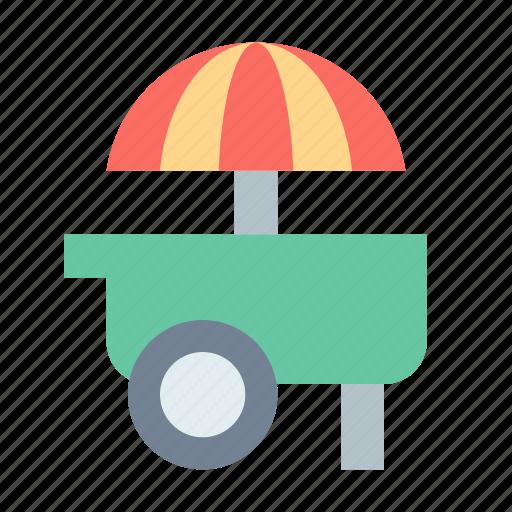 hotdog, ice cream, stand, wagon icon