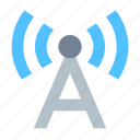 antenna, communication, radio station, signal icon
