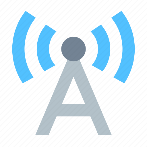 antenna, communication, radio station, signal icon