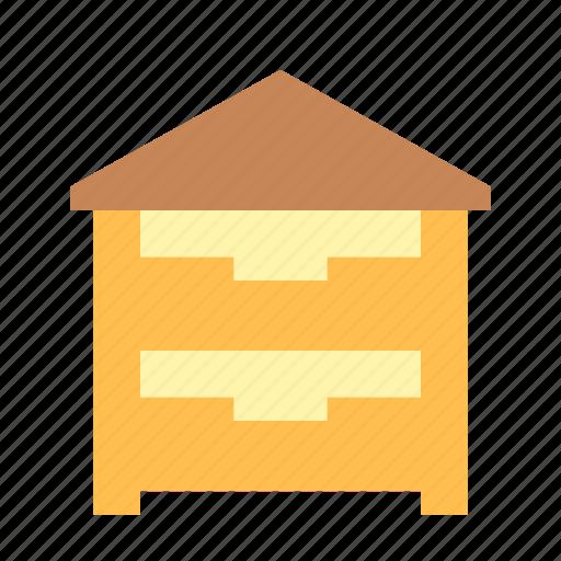 bee, hive, house icon