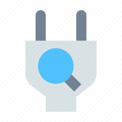 connection, find, plug icon