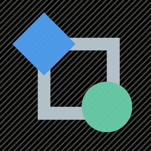 flowchart, interrelation icon