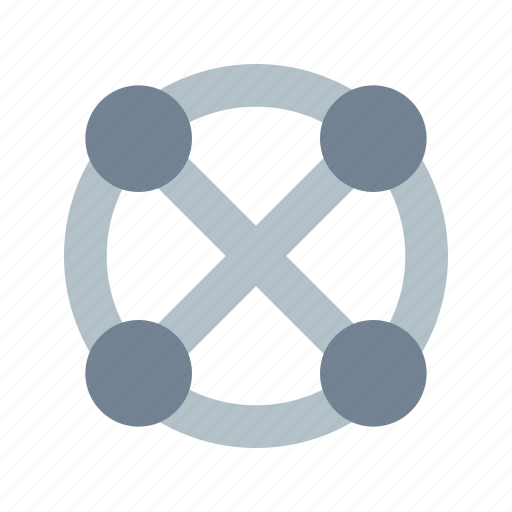 connections, full, topology icon