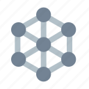 crystal, lattice, connections icon
