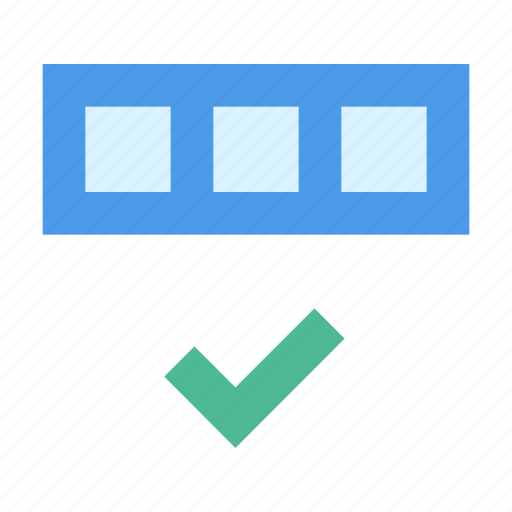 check, complete, database icon