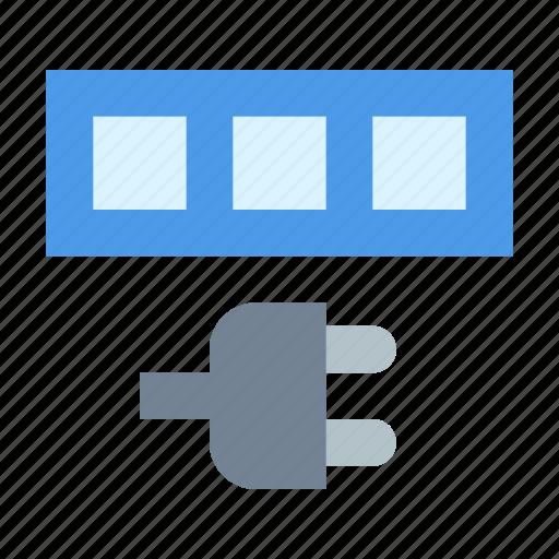 connect, database, plug icon