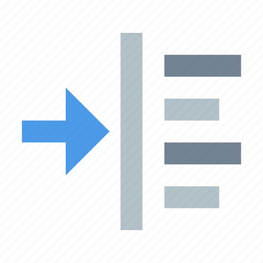 indent, left, margin, paragraph, text icon