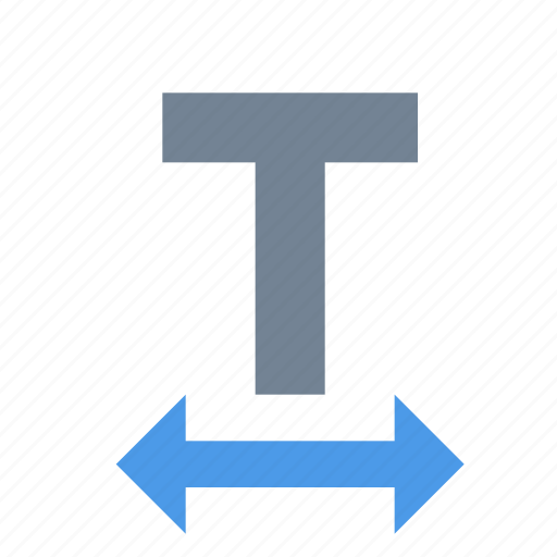 font, format, horizontal, scale, text, tracking icon