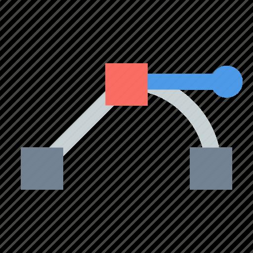 anchor, bezier, corner, path icon