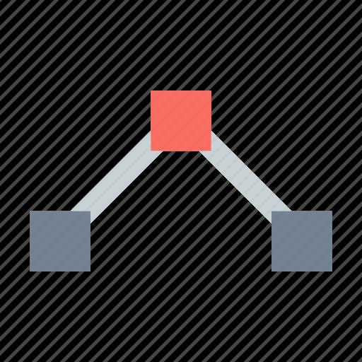 anchor, corner, path icon