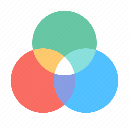 circles, design, filter, graphic, intersection icon