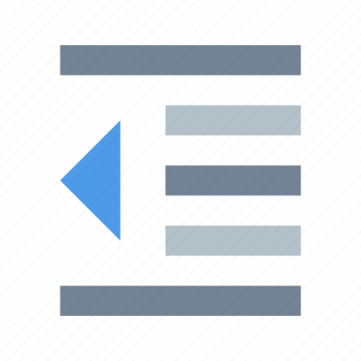 format, increase, indent, paragraph icon