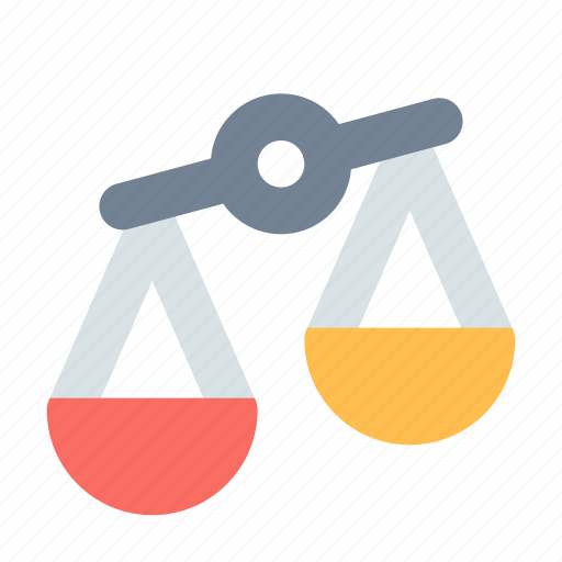 Disbalance, justice, scales icon - Download on Iconfinder