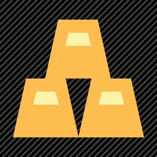 bank, gold, money icon