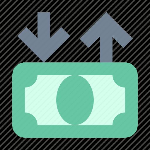 cashin, cashout, money icon