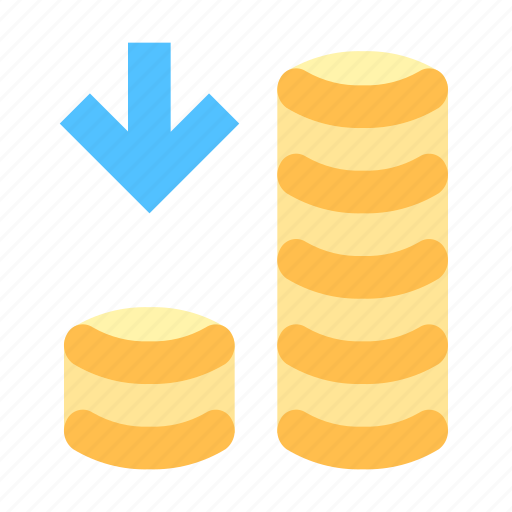 Money, arrow, coins icon - Download on Iconfinder