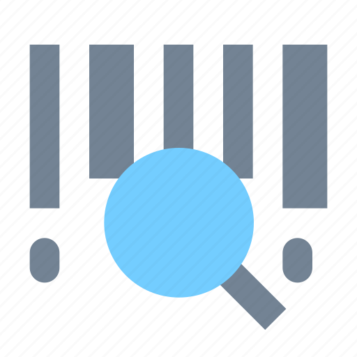 barcode, search icon