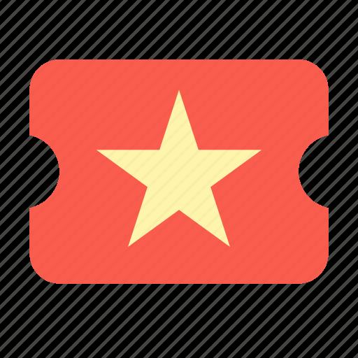 cinema, party, ticket icon