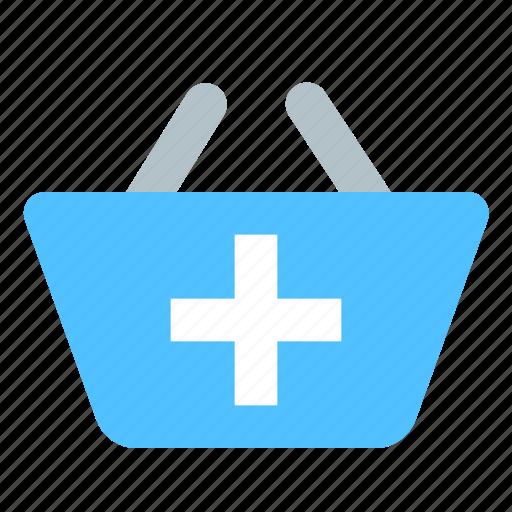 add, basket, shop icon