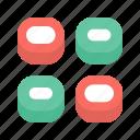 rolls, sushi icon