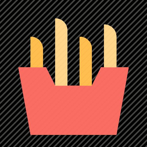 box, french fries, potato icon