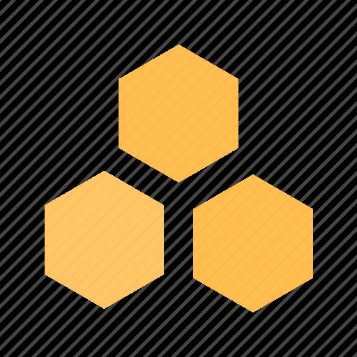 bees, honey, honeycomb icon