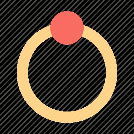 diamond, present, ring icon