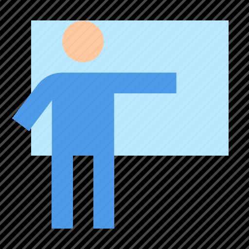 edication, presentation, teacher icon