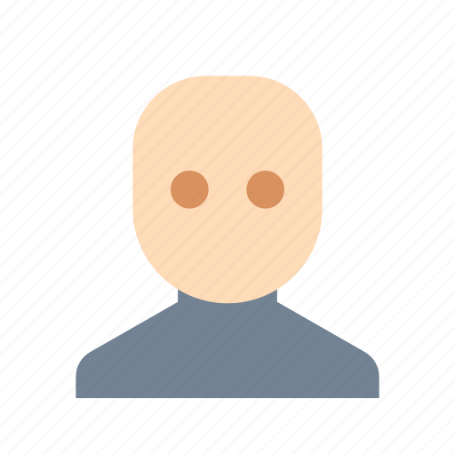 bald, hairless, man icon