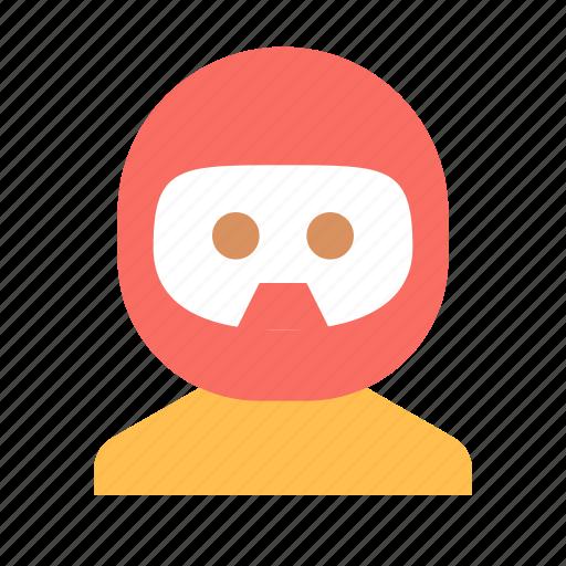 avatar, biker, helmet icon