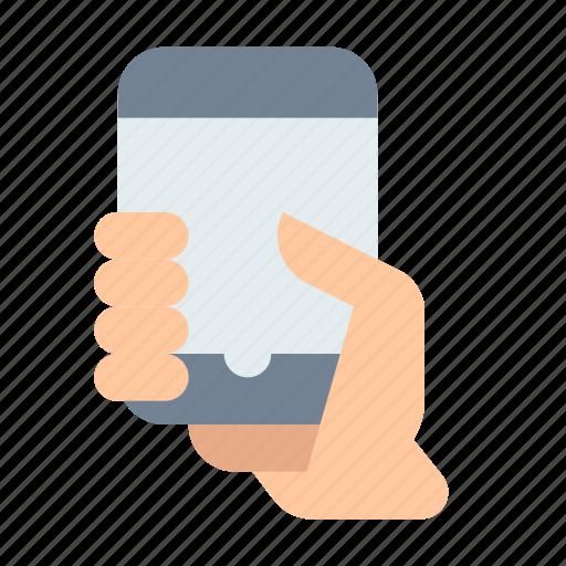 Hand, smartphone, mockup icon - Download on Iconfinder