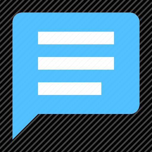 bubble, conversation, message icon