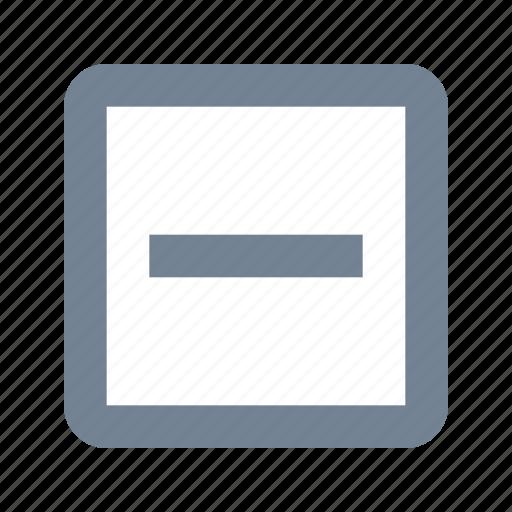 Checkbox, indeterminate icon - Download on Iconfinder
