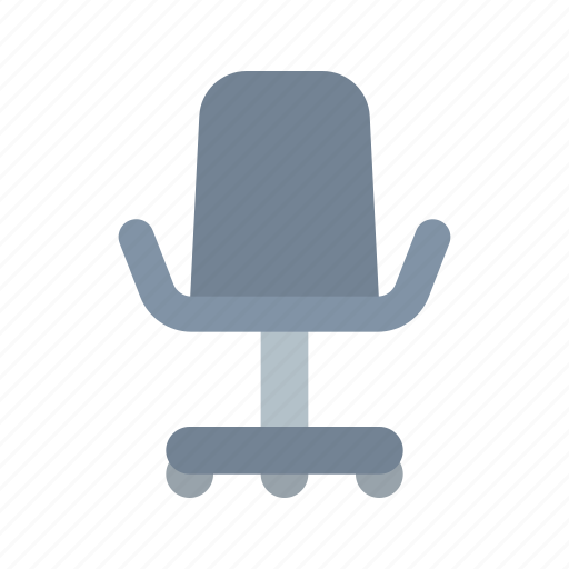armchair, chair, office, wheels icon