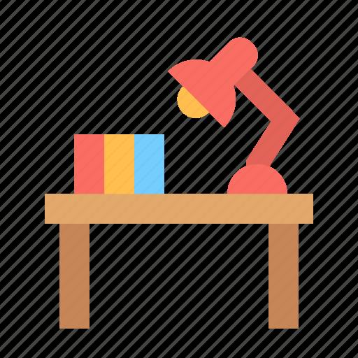 desk, furniture, table icon