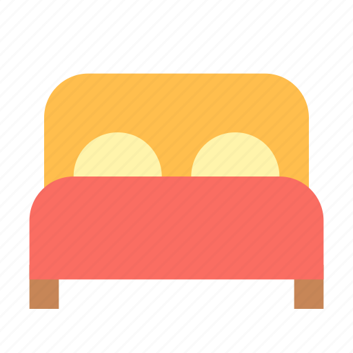bed, double, furniture icon