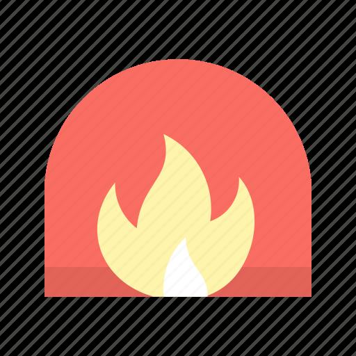 chimney, fireplace, interior icon