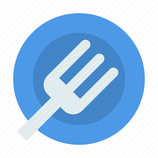 dish, fork, lunch icon