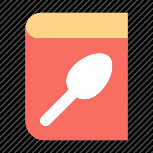 book, cooking, menu icon