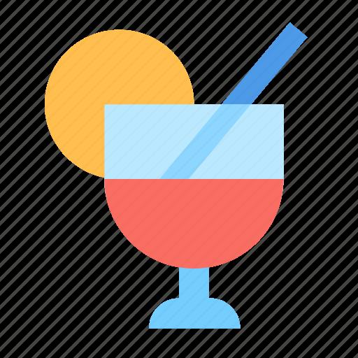 cocktail, drink, lemon icon